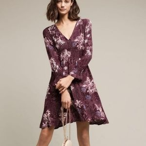 Anthropologie Maeve Monaco Dress Purple L